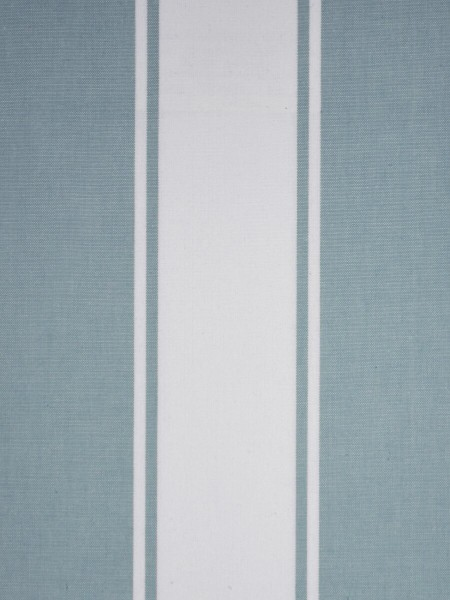 Moonbay Stripe Back Tab Cotton Curtains (Color: Powder blue)