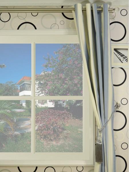 Moonbay Stripe Grommet Cotton Curtains