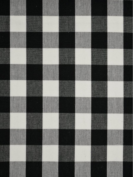 Moonbay Small Plaids Double Pinch Pleat Curtains (Color: Black)