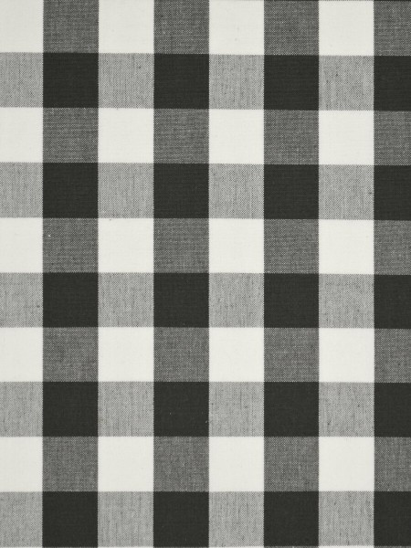 Moonbay Small Plaids Double Pinch Pleat Curtains (Color: Ebony)