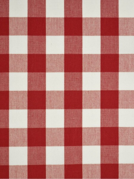 Moonbay Small Plaids Double Pinch Pleat Curtains (Color: Cardinal)