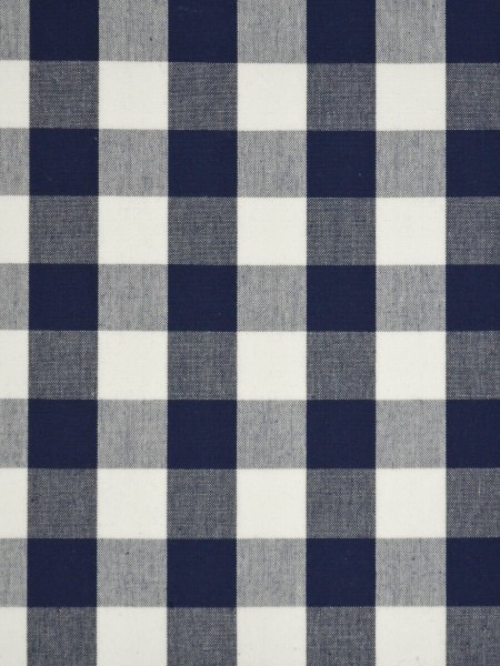 Moonbay Small Plaids Double Pinch Pleat Curtains (Color: Duke blue)