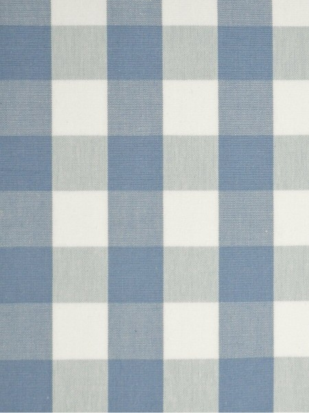 Moonbay Small Plaids Double Pinch Pleat Curtains (Color: Sky blue)