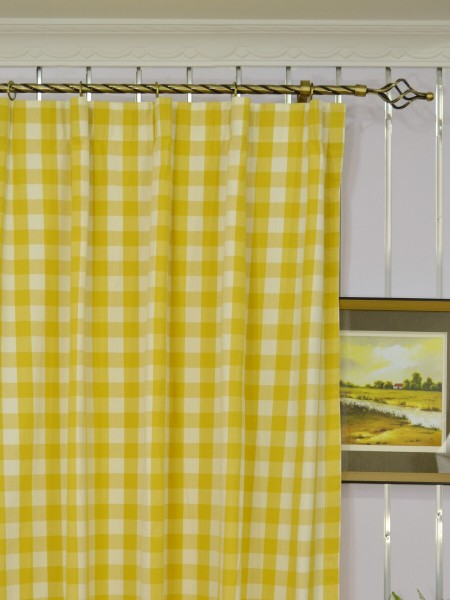 Moonbay Small Plaids Versatile Pleat Curtains Heading Style
