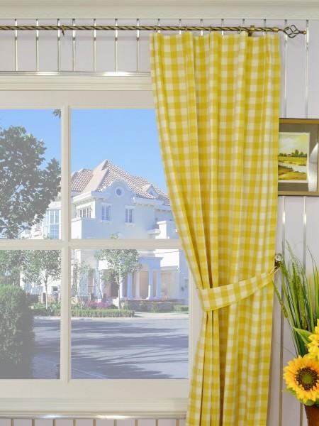 Moonbay Small Plaids Versatile Pleat Curtains