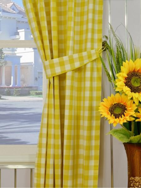 Moonbay Small Plaids Versatile Pleat Curtains Decorative Tiebacks
