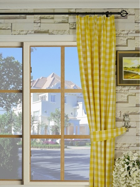 Moonbay Small Plaids Double Pinch Pleat Curtains