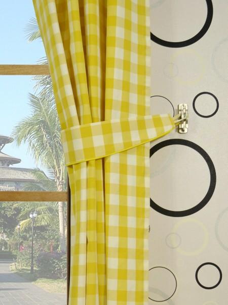 Moonbay Small Plaids Grommet Curtains Decorative Tiebacks