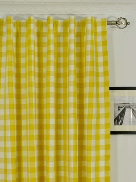 Moonbay Small Plaids Concealed Tab Top Curtains Heading Style