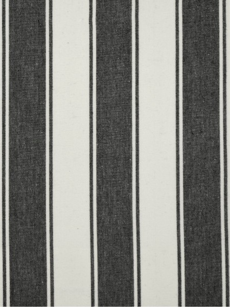 Moonbay Narrow-stripe Back Tab Curtains (Color: Black)