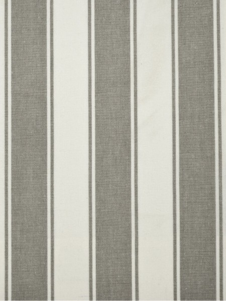 Moonbay Narrow-stripe Back Tab Curtains (Color: Ecru)