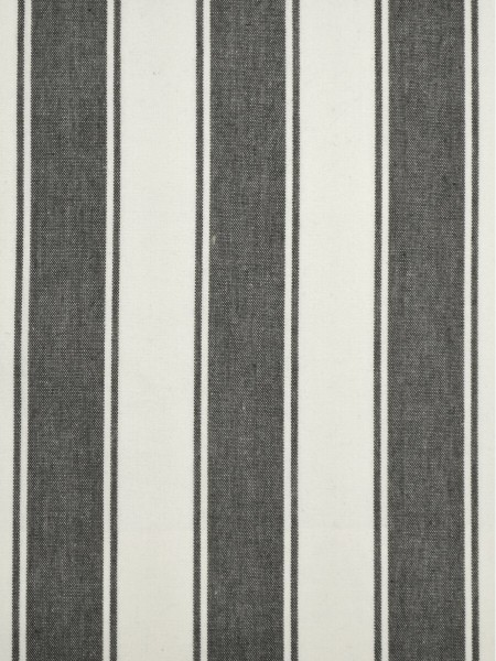 Moonbay Narrow-stripe Back Tab Curtains (Color: Ebony)