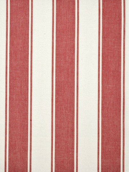 Moonbay Narrow-stripe Back Tab Curtains (Color: Cardinal)