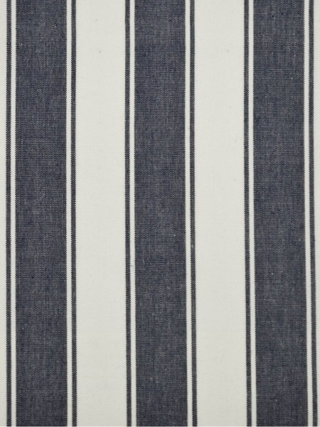 Moonbay Narrow-stripe Back Tab Curtains (Color: Duke blue)