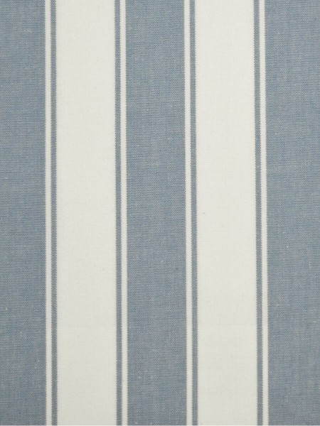 Moonbay Narrow-stripe Back Tab Curtains (Color: Sky blue)