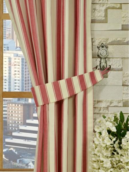 Moonbay Narrow-stripe Versatile Pleat Curtains Decorative Tiebacks