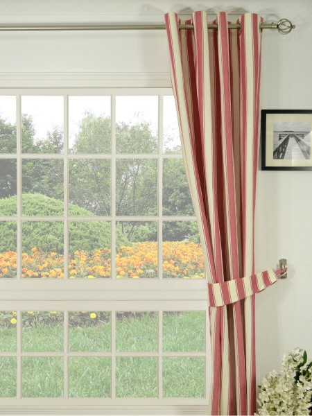 Moonbay Narrow-stripe Grommet Curtains