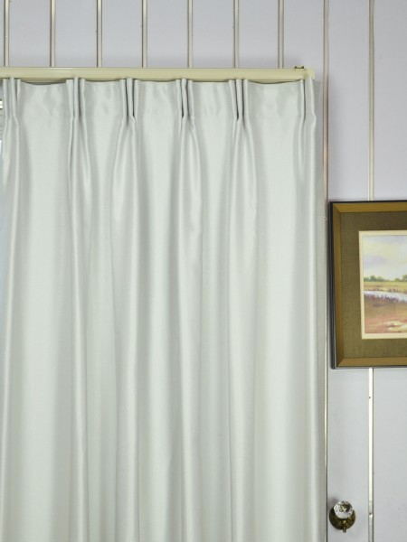 Extra Wide Swan Beige and Yellow Solid Versatile Pleat Curtains 100 - 120 Inch Heading Style
