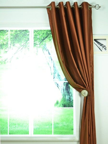 extra wide swan brown solid grommet curtains 100 inch 120 inch width panels. Black Bedroom Furniture Sets. Home Design Ideas