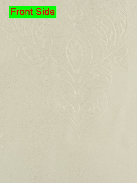 Swan Embossed Huahinia Floral Wave Lined Valance with Decorations (Color: Ivory)