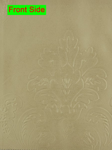 Swan Embossed Huahinia Floral Wave Lined Valance with Decorations (Color: Ecru)