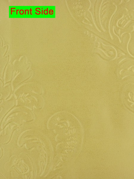 Swan Embossed Huahinia Floral Wave Lined Valance with Decorations (Color: Maize)