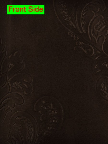 Swan Embossed Huahinia Floral Wave Lined Valance with Decorations (Color: Seal Brown)