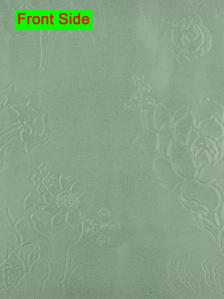 Swan Embossed Medium-scale Floral Symmetry Large Wave Lined Valance (Color: Celadon)