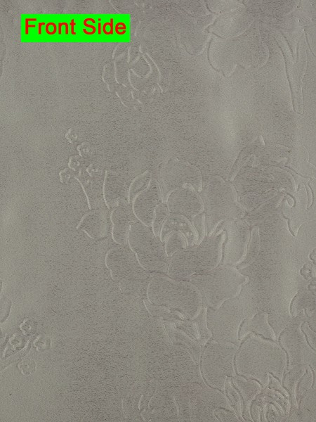 Swan Embossed Medium-scale Floral Symmetry Large Wave Lined Valance (Color: Dark Medium Gray)