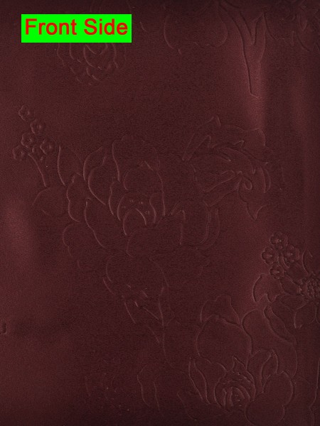 Swan Embossed Medium-scale Floral Symmetry Large Wave Lined Valance (Color: Persian Plum)