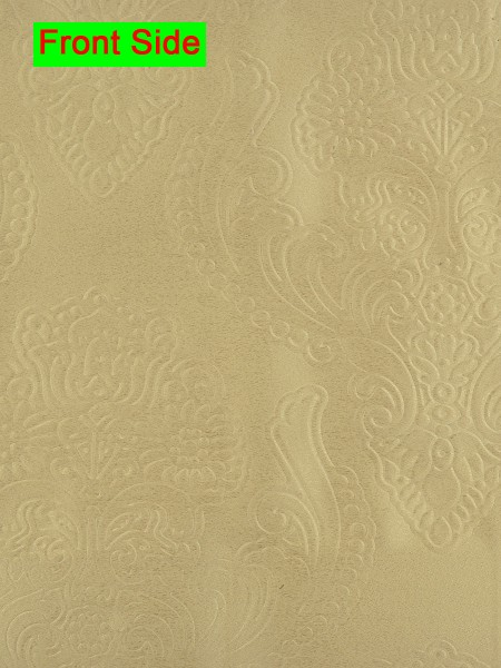 Swan Embossed Europe Floral Symmetry Large Wave Lined Valance (Color: Deep Champagne)