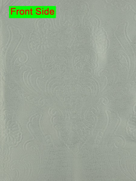 Swan Embossed Europe Floral Symmetry Large Wave Lined Valance (Color: Mint Cream)