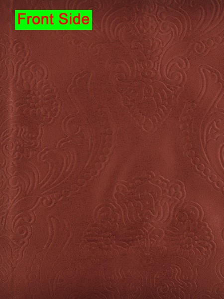 Swan Embossed Europe Floral Symmetry Large Wave Lined Valance (Color: Bright Maroon)