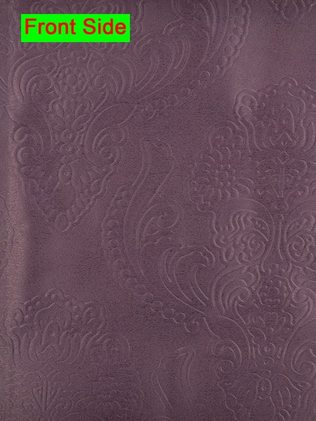 Swan Embossed Europe Floral Symmetry Large Wave Lined Valance (Color: Antique Fuchsia)