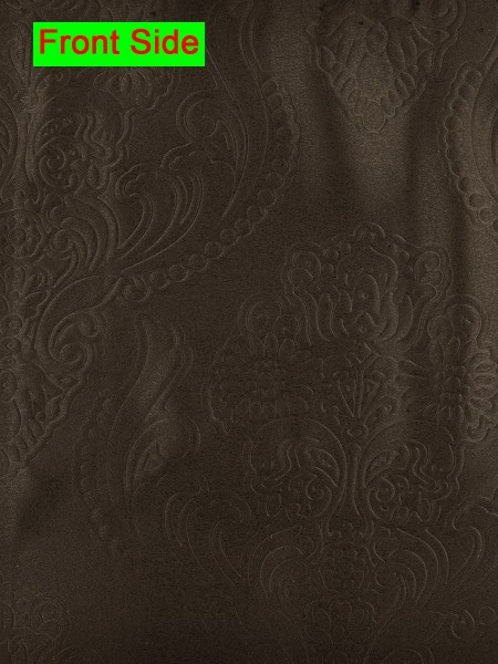 Swan Embossed Europe Floral Symmetry Large Wave Lined Valance (Color: Old Burgundy)