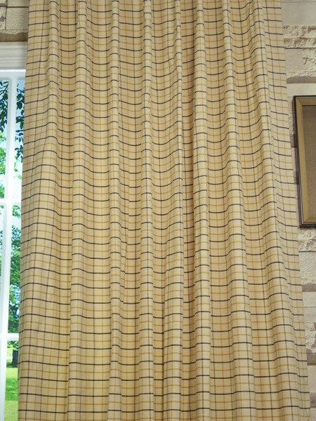 Extra Wide Hudson Small Plaid Back Tab Curtains 100 Inch - 120 Inch Curtains Fabric