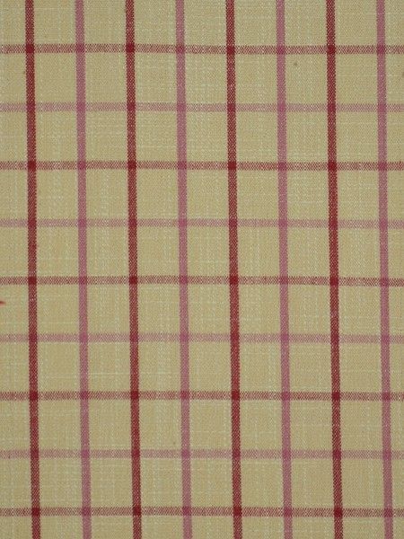 Extra Wide Hudson Small Plaid Back Tab Curtains 100 Inch - 120 Inch Curtains (Color: Cardinal)