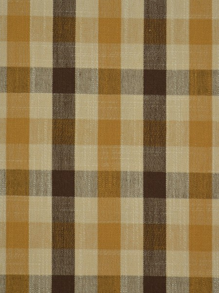 Hudson Cotton Blend Small Check Back Tab Curtain (Color: Coffee)