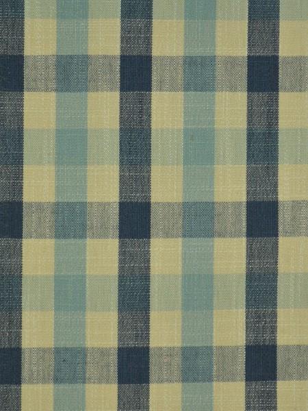 Hudson Cotton Blend Small Check Back Tab Curtain (Color: Bondi blue)
