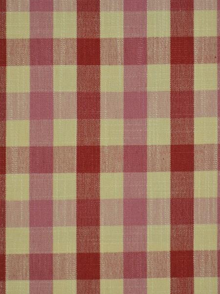 Hudson Cotton Blend Small Check Back Tab Curtain (Color: Cardinal)