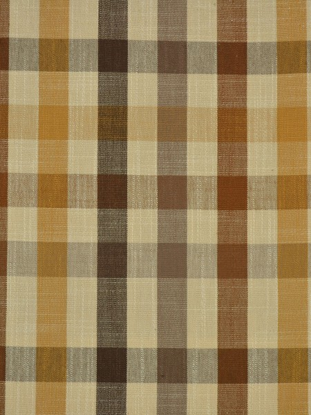 Hudson Cotton Blend Middle Check Versatile Pleat Curtain (Color: Coffee)