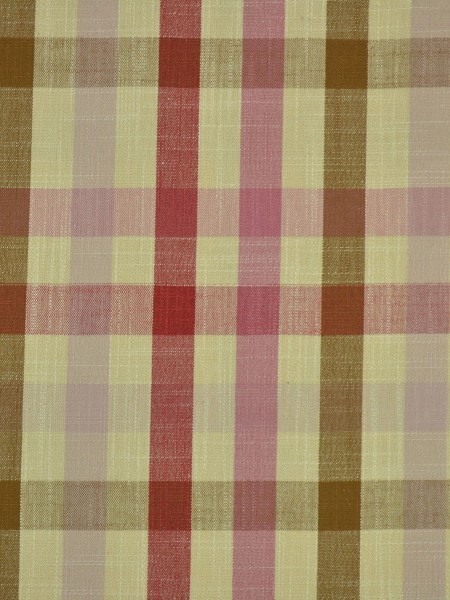 Hudson Cotton Blend Middle Check Versatile Pleat Curtain (Color: Cardinal)