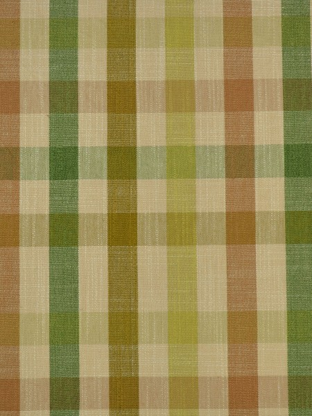 Hudson Cotton Blend Middle Check Versatile Pleat Curtain (Color: Olive)