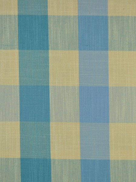 Extra Wide Hudson Bold-scale Check Back Tab Curtains 100 Inch - 120 Inch Curtain (Color: Capri)