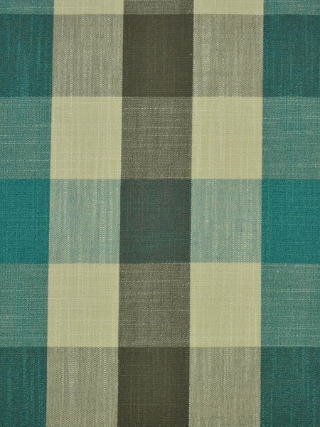 Extra Wide Hudson Bold-scale Check Back Tab Curtains 100 Inch - 120 Inch Curtain (Color: Celadon Blue)