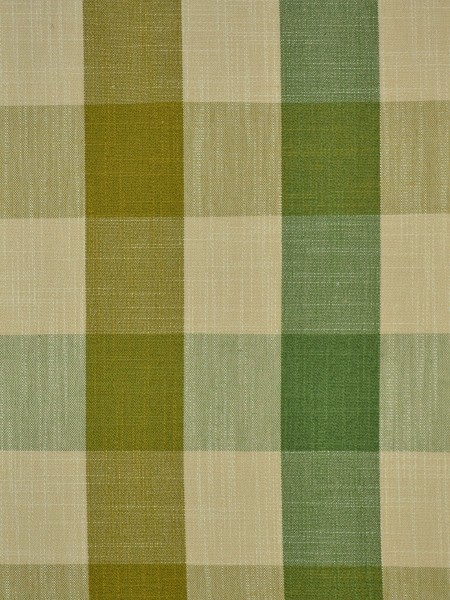 Hudson Cotton Blend Bold-scale Check Double Pinch Pleat Curtain (Color: Olive)