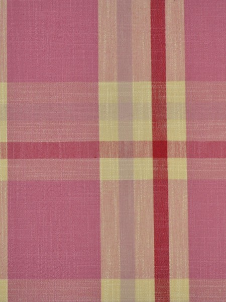 Hudson Cotton Blend Large Plaid Tab Top Curtain (Color: Cardinal)