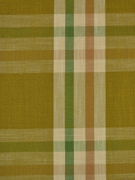 Hudson Cotton Blend Large Plaid Tab Top Curtain (Color: Olive)