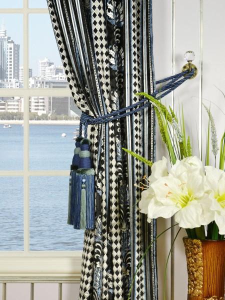 Maia Antique Damask Rod Pocket Velvet Curtains