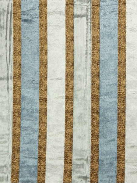 Maia Luxurious Stripe Velvet Fabric Sample (Color: Silver)